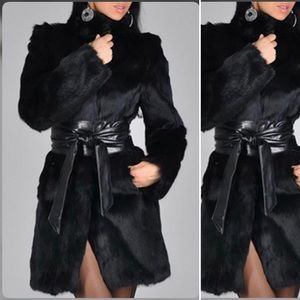 Jackets & Blazers - Black fur coat
